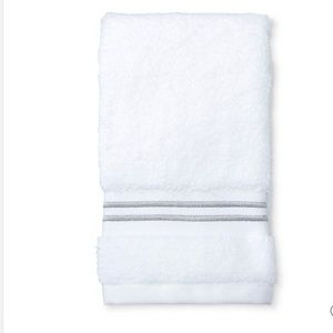 Fieldcrest Bath - NWT fieldcrest micro-cotton Hand towel gray strip